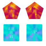 Set of colored glass geometric shapes Royalty Free Stock Photos