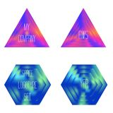 Set of colored glass geometric shapes Royalty Free Stock Image
