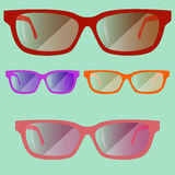 Set of colored glasses02 Royalty Free Stock Image