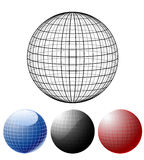 Set of colored globes. Set of different colored globes. Additional vector format in EPS 8 Stock Image