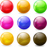 Set of colored glossy spheres Royalty Free Stock Images