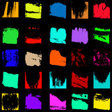 Set of colored grunge textures graffiti Stock Photo