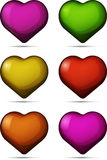 Set of colored hearts Royalty Free Stock Photography