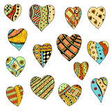 Set colored hearts Royalty Free Stock Image