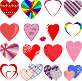 A set of colored hearts. Stock Images