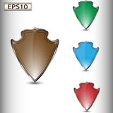 Set of colored heraldic shields Stock Images