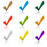 Set of colored hooks with shadow Stock Photos