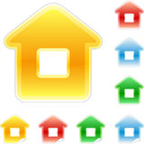 Set of colored houses Royalty Free Stock Image