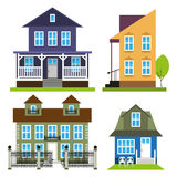 A set of colored houses. Stock Image