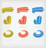 Set of colored icons Royalty Free Stock Images