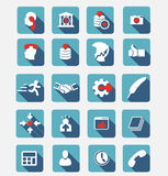 Set of colored icons. Business and Finance. Royalty Free Stock Photo