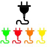 Set of colored icons plugs. Connector. vector illustration