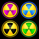 Set of colored icons radiation Stock Photo
