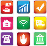 Set of  colored icons Stock Photo