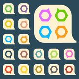 Set of colored icons to indicate the empty space Royalty Free Stock Image