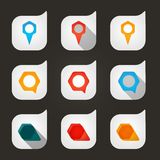 Set of colored icons to indicate the empty space Stock Photo