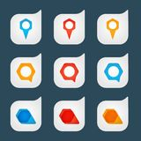Set of colored icons to indicate the empty space Stock Photography