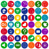 Set of colored icons, vector button for game design. Set of colored icons, button for game design. Mobile elements for game or music players royalty free illustration