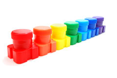 Ink Cans Rainbow Royalty Free Stock Photo