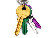 Set of colored keys Stock Photo