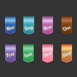 Set of colored labels Royalty Free Stock Photography