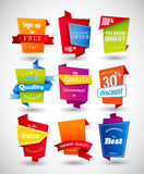 Set of colored labels. Stock Photography