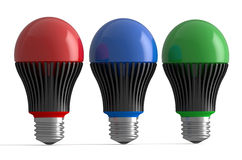 Set of colored LED lamps Royalty Free Stock Image