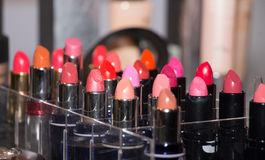 Set of colored lipstick Stock Images