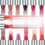 Set of colored lipsticks. Red lipstick, pink lipstick, lipstick orange, wine Stock Photo
