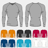 Set of colored long sleeve shirts templates for men Stock Photography