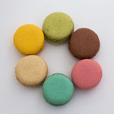 Set of colored macarons / macaroons Stock Images