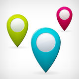 Set colored  map pointer Stock Images