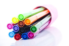 Set of colored markers Royalty Free Stock Photos