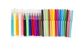 A set of colored markers Royalty Free Stock Photography
