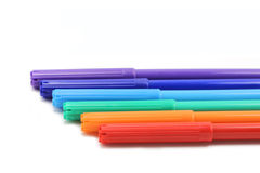 Set of colored markers Stock Images