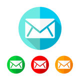 Set of colored message icons. Vector illustration. Royalty Free Stock Image