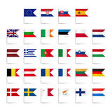 Set of colored mini flags Royalty Free Stock Photography