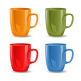 Set of mugs Stock Photo