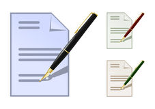 Set of colored note icons Stock Photo