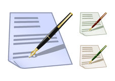 Set of colored note icons Stock Images