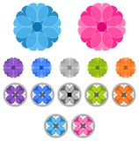 Set of colored ornaments. Mandalas Royalty Free Stock Photo