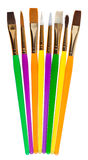 Set of colored paintbrushes Royalty Free Stock Photos