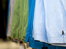 Set of colored pants Stock Photography
