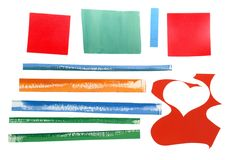 Set of colored paper Stock Photos