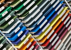 Set of colored papers Stock Photo