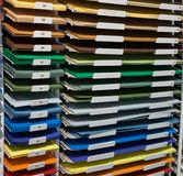 Set of colored papers Stock Image