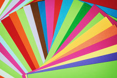 Set of colored papers Royalty Free Stock Photo