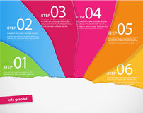 Set of colored papers with place for your own text. Stock Photos