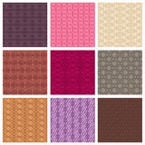 Set of colored patterns Stock Image