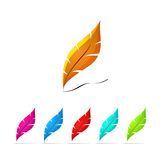Set of colored pen icons. With shine edges Royalty Free Stock Photo
